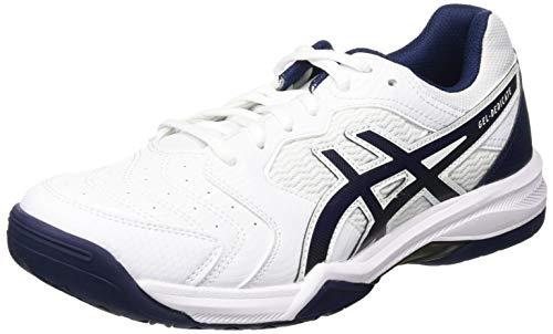 ASICS Gel-Dedicate 6, Scarpe da Tennis Uomo, White/Peacoat, 43.5 EU