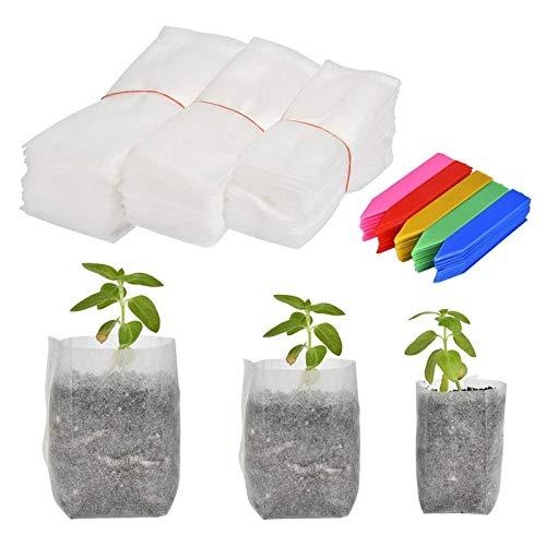 Tessuto Non Tessuto Per Piante Sacco, Sacchi Per Piante Biodegradabili, Vasetti Per Piantine Balcone Orto Giardino Semenzaio Germinazione