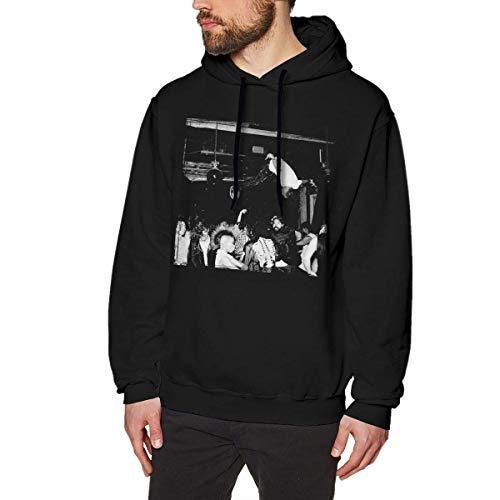 Ytdbh Herren Hoodie Kapuzenpullover, Gentle Tees Playboi Carti Die Lit Men's No Pocket Hooded Sweatshirt Black