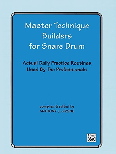 Master Technique Builders for Snare Drum: Actual Daily Practice Routines Used by The Professionals
