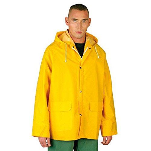 Chubasquero amarillo pescador hombre