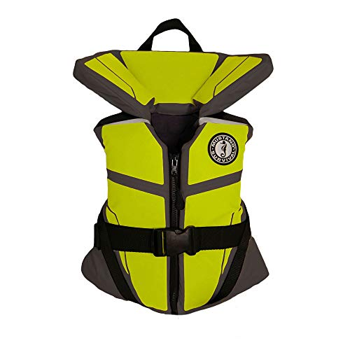 Mustang Survival Corp Lil' Legends 100 Youth Life Vest, Gray/Fluorescent Yellow Green