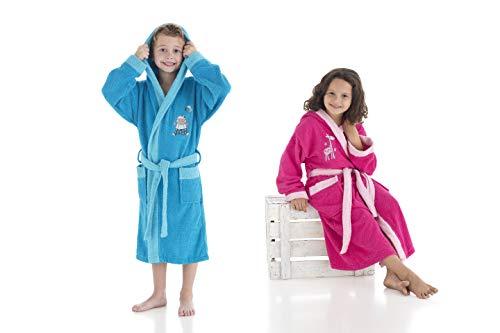 Miracle Home - Albornoz para niños de 10/12 años, azul