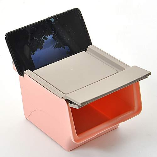 DFJKL prullenbak kan Creative Desktop vuilnisbak prullenbak Kan Luie achtervolging Kan Zet Mobiele Telefoon Beugel Snacks Prullenbak Opslag Box-in afvalbakken van huis & tuin