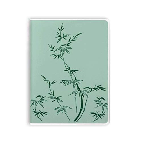 Malerei, japanische Kultur, Bambus, Notizbuch, Gummi-Einband, Tagebuch mit weichem...