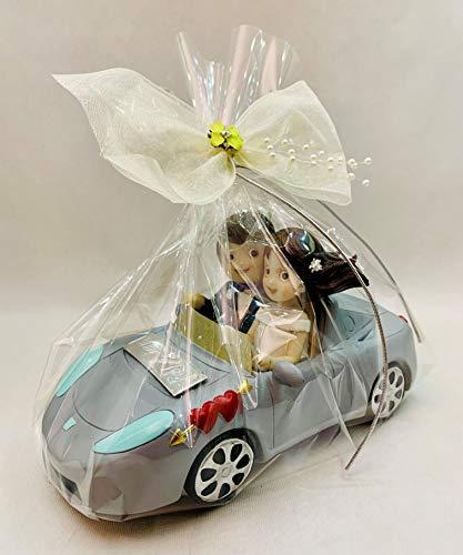 Figura GRABADA muñecos boda novios en coche para tarta figuras PERSONALIZADAS pastel