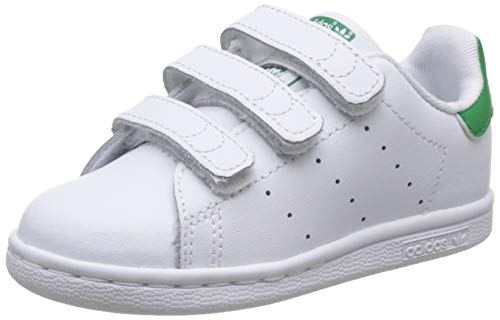 adidas Stan Smith CF I, Zapatillas Unisex bebé, Blanco (Footwear White/Footwear White/Green...