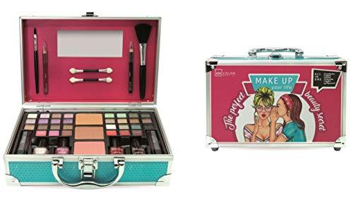 IDC COLOR, Maletin de maquillaje (ref30218) - 1 unidad