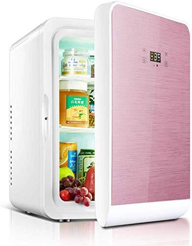 Mini Kühlschrank 22L Auto Kühlschrank Mikro Kühlschrank Haushalt kleiner Kühlschrank tragbarer Kühlschrank dljyy (Color : Pink, Size : 43.5 * 37 * 31cm)