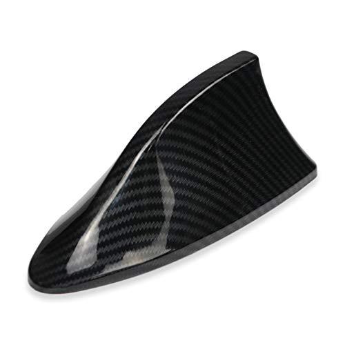 Hyzb Auto de señal de Radio Antenas imitación de Fibra de Carbono de Coches de Aleta de tiburón Antena for VW Polo Ford Kuga for Kia Car Styling Techo decoración (Color : Dark Grey)