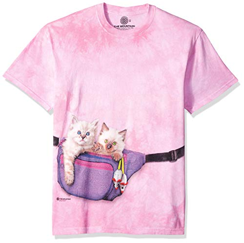 The Mountain Fanny Pack Kittens Adult T-Shirt, Pink, 4XL