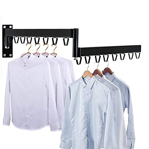 AZITICY Percha de pared para ropa, estante de secado plegable para lavandería, cuarto de baño, cuarto de servicio, dormitorio, balcón