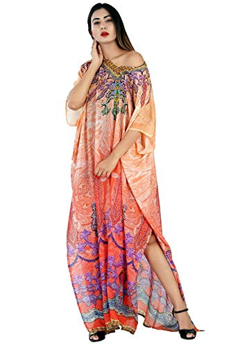Enthralled Tribal approach Silk Kaftan of full length amiable and fashion stunned