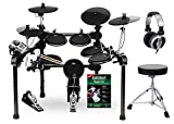 XDrum DD-520 PLUS SET 1 E-Drum Set (elektronisches Schlagzeug, mit Hocker, Kopfhörer, Sticks & Fußmaschine, 458 Sounds)