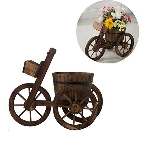 CJSWT Macetero de Flores para vagones de Madera, macetas de jardín, macetas para el hogar, Interior, Exterior, Bicicleta, Soporte, Caja, Soporte Decorativo, decoración de Patio