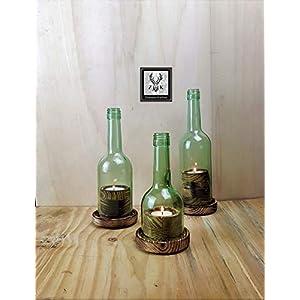 Wein Windlicht 3er Pack, Ambiente Collection, rustikal, abgeflammt