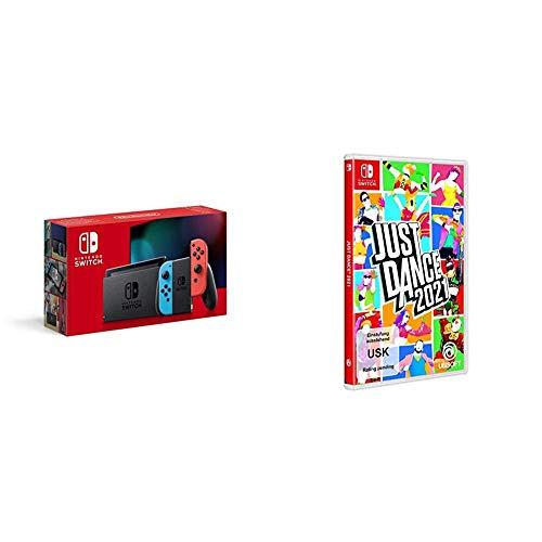 Nintendo Switch Konsole - Neon-Rot/Neon-Blau (2019 Edition) + Just Dance 2021 - [Nintendo Switch]