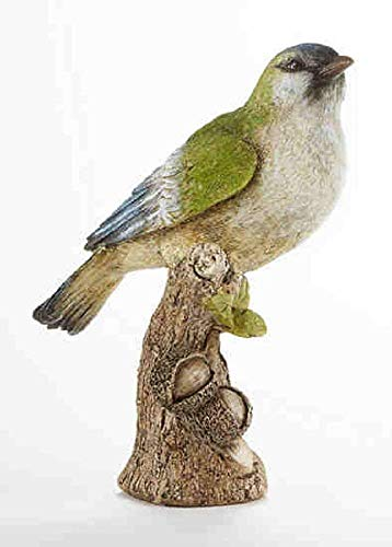 Delton Products 3.7 inches x 8.3 inches Resin Bird on Stump Collectible Figurine