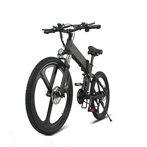 Liu Yu·casa creativa Bicicleta eléctrica Plegable con Motor de 500W 48V 12.8AH Batería de Litio extraíble, Bicicleta eléctrica con neumáticos de 26 * 1.95 Pulgadas, Bicicleta eléctrica para Adultos