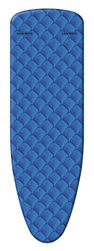 Leifheit Bügeltischbezug Cotton Comfort S/M, für Bügelflächen bis max. 125 x 40 cm, mit extra dicker Polsterung, elastischem Gummizug