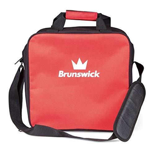 Brunswick TZone Single Tote 1-Ball-Bowling-Tasche für einen Bowlingball (Rot)