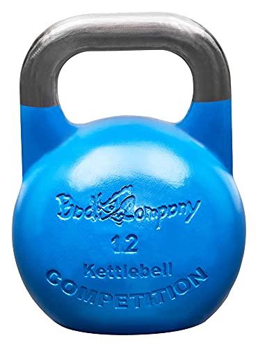 Bad Company Competition Kettlebell I Kugelhantel aus Stahl I Schwunghantel Workout in verschiedenen Gewichtsstufen I 12 kg