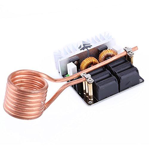 Módulo de calentamiento por inducción Fuente de alimentación de bajo voltaje Calentador de placa Máquina de calor de alta frecuencia Controlador 12V-48V 20A 1000W con bobina de latón