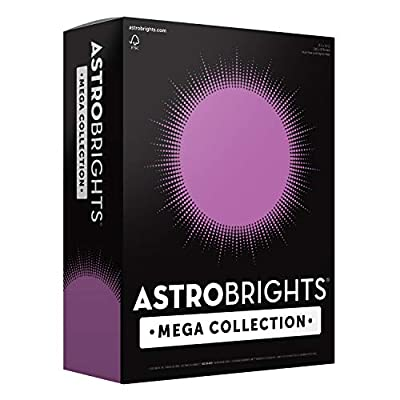 "strobrights Mega Collection Colored Paper, 8 ½ x 11, 24 lb/89 gsm, Bright Purple, 625 Ct. (91675)""Amazon Exclusive"" - More Sheets!"