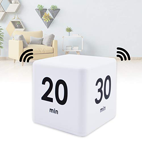 Digital Cube Timer, Kitchen Child Timer Multi-Function Electronic Timer Magnetic Countdown Timer for Kids, Cooking, Classroom, Bathroom, Learning, Projects, Teachers,Time Management (15-20-30-60 )