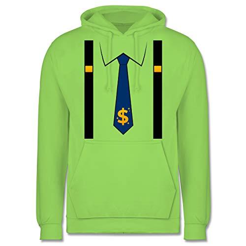 Shirtracer Karneval & Fasching - Anzug Kostüm mit Dollarzeichen Krawatte - S - Limonengrün - JH001_Hoodie_Herren - JH001 - Herren Hoodie und Kapuzenpullover für Männer