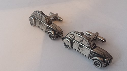 Citroen 2 CV 3D Boutons de manchette fabriqué à partir de fin anglais en étain