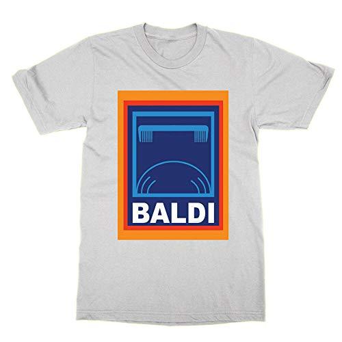 Baldi T-Shirt Funny tee Present Joke Bald Head Aldi Parody Logo Dad...