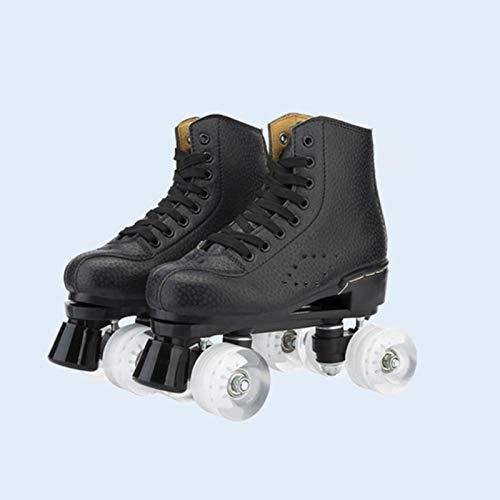 Ovis Mikrofaser Rollenschuhe, doppelte PU Vier Schlittschuhe gleiten Frauen Männer Erwachsener Inline-Skates, Rollschuhe für Kinder