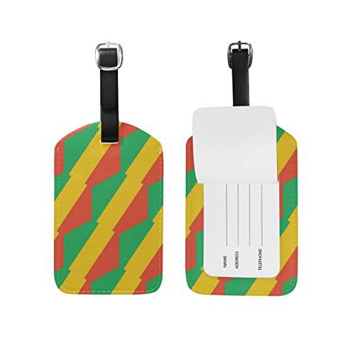 Congo Brazzaville Flagge, Gepäckanhänger für Gepäck, Koffer