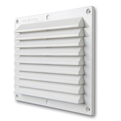 La Ventilazione BR1714B Griglia di Ventilazione in Plastica Rettangolare da Sovrapporre, Bianco, 175x146 mm