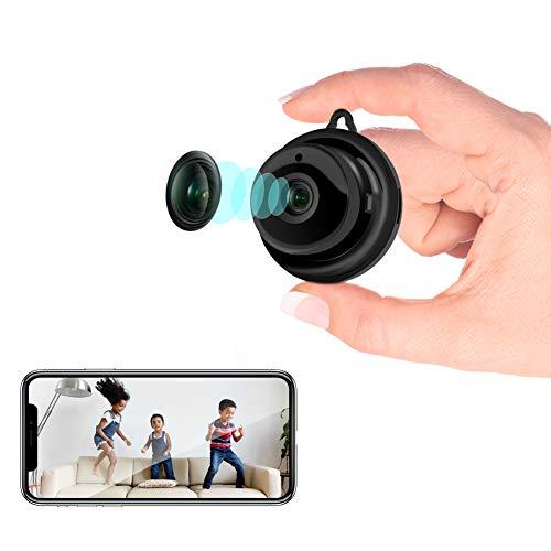 Überwachungskamera, Veroyi WLAN Mini Kamera für Heimsicherheit Aussen/Innen, Videokamera Nanny Camcorder mit 2-Wege-Audio-Bewegungserkennung Nachtsicht