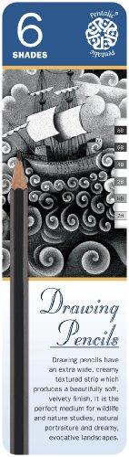 Pentalic Art 6-Piece Sketch Pencil Tin Set