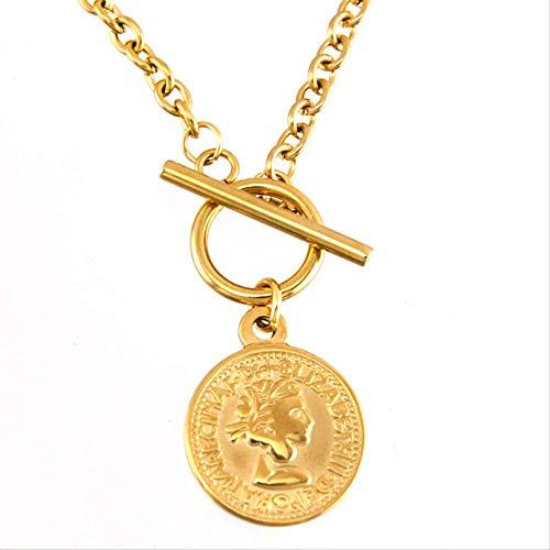n a S. Stahlmünze Karte Schloss Herz Frauen Halsreif Saint Long Männer Halskette Gold Farbe Toggle Halskette Kragen De Moda Boho Collier Geschenk