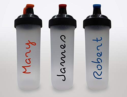 Personalised Shaker Water Bottle with Flip Lid Island Inspired Add ANY Name Perfect For Gym, Kids, School Any Occassion (Black/Red)