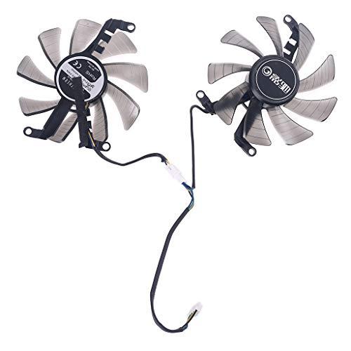 EWAT Ventilador de refrigeración para tarjetas gráficas, 1 par de 85 mm y 4 pines de repuesto para ventilador de refrigeración de tarjetas gráficas Galax GeForce GTX 1660 RTX 2060 2070
