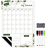 Magnetic Calendar for Refrigerator 2021 Dry Erase Board Magnet for Wall 11.7' x 16.5' Weekly Planner Monthly Whiteboard Magnets with 4 Markers & Eraser