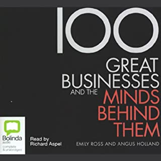 100 Great Businesses and the Minds Behind Them audiobook cover art