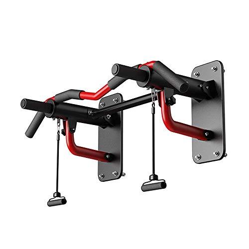 Giow Multifunktions-Klimmzugstange für den Innenbereich, Fitnessgerät, tragbares Trapez, rot