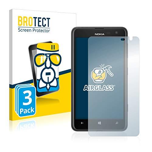 brotect Pellicola Protettiva Vetro Compatibile con Nokia Lumia 625 (3 Pezzi) Schermo Protezione, Estrema Durezza 9H, Anti-Impronte, AirGlass
