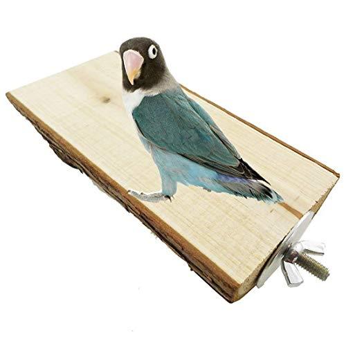 Hypeety Parrot perchoirs Support en Bois Perchoir Jouet Terrain de Jeu pour Parrot Perroquet Gris d'Afrique perruches Amazones Perruche Cage Stands Jouet d'exercice
