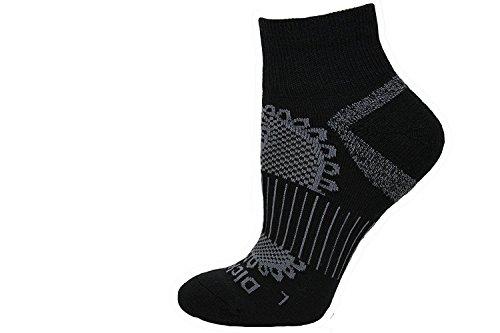 Dickies Paisley All Season Wollmischung Viertel Socken, schwarz, 1 Paar