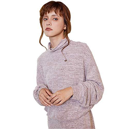 LLSS Damen Baumwolle Herbst Winter Pyjama Set, Luxuriös Warm Bequem Langarm Hecken...