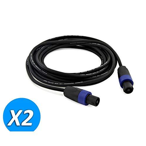 2Stück Kabel Speakon männlich/männlich 5m für Lautsprecher Soundlab go38ze