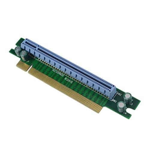 Hanmarigold Tarjeta elevadora adaptadora PCI-E Express 16X 90 Grados para chasis de Servidor de computadora 1U promoción Digital Caliente portátil