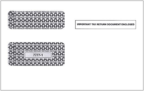 Double Window Security Envelopes for 1099-MISC Laser Tax Forms, 100 Count - Park Forms
